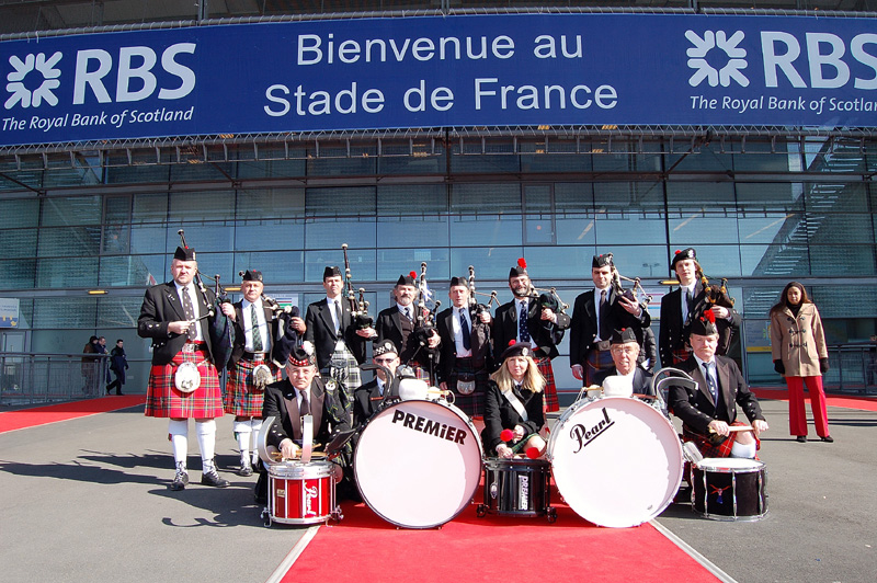 Pipe Band Montmartre Highlanders Stade de France