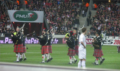 Pipe Band Montmartre Highlanders Stade de France 2009
